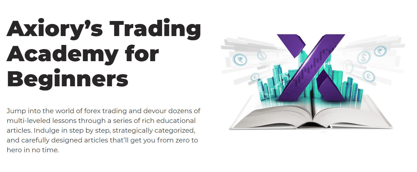 Axiory educational materials for traders