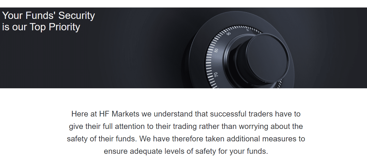 HF Markets security of funds