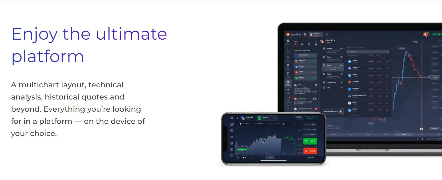 IQ Option trading application