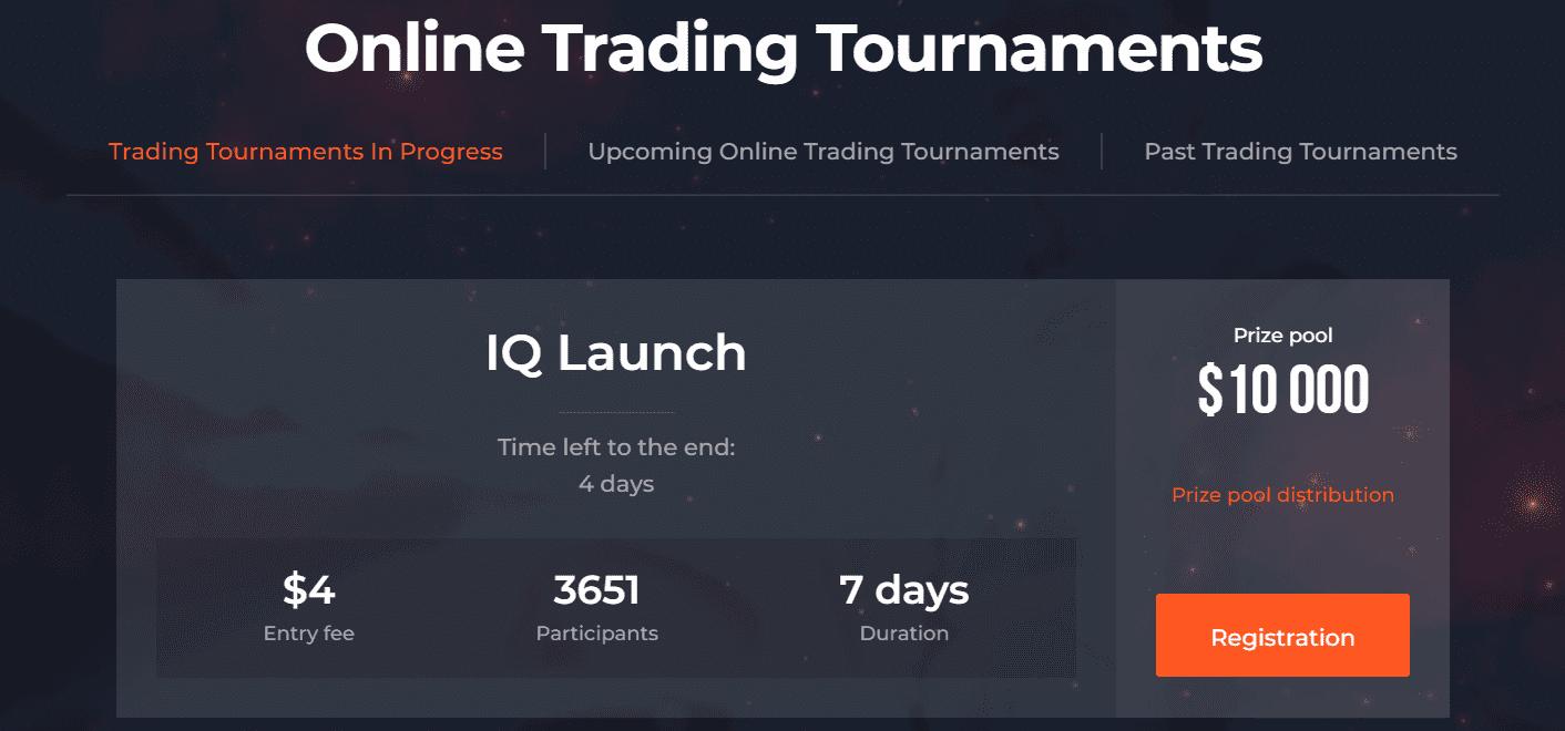 IQ Option online trading tournaments