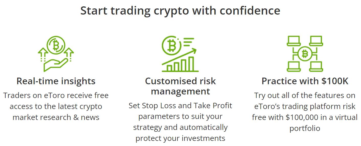 eToro trade cryptocurrencies